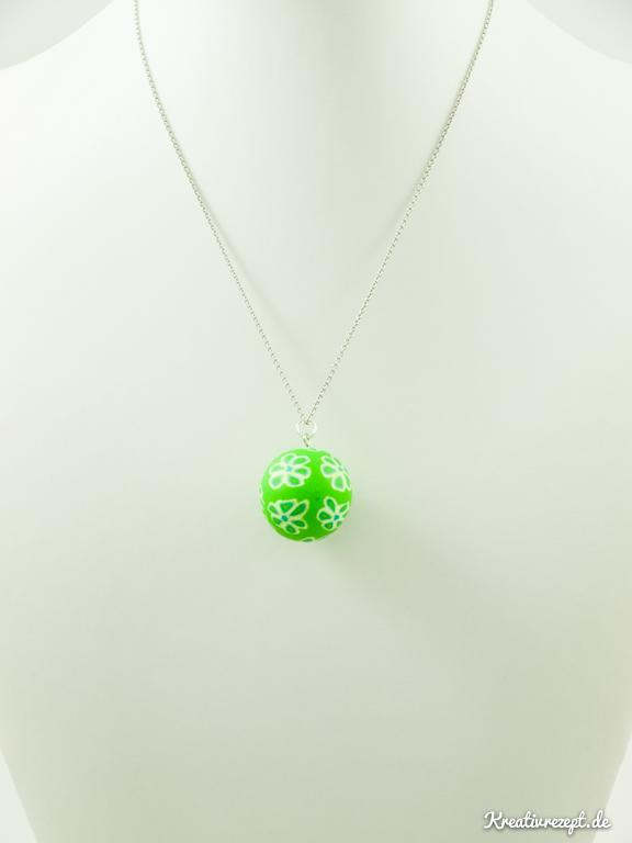 blumige Perle aus FIMO