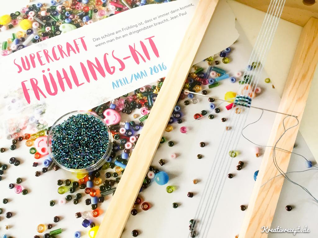 Perlenweben mit Materialien aus dem supercraft Frühlings-Kit 2016