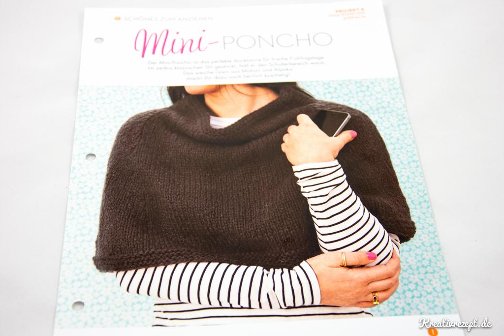 Projekt 3: Mini-Poncho (Anleitung von Simple Stylish Stricken)