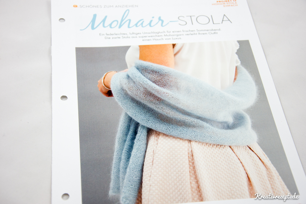 Projekt 1: Mohair-Stola (Anleitung von Simple Stylish Stricken)