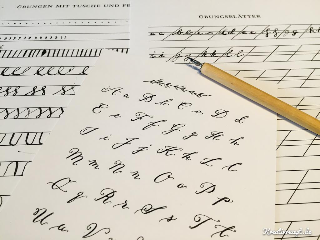 Meine ersten Kalligrafie-Übungen