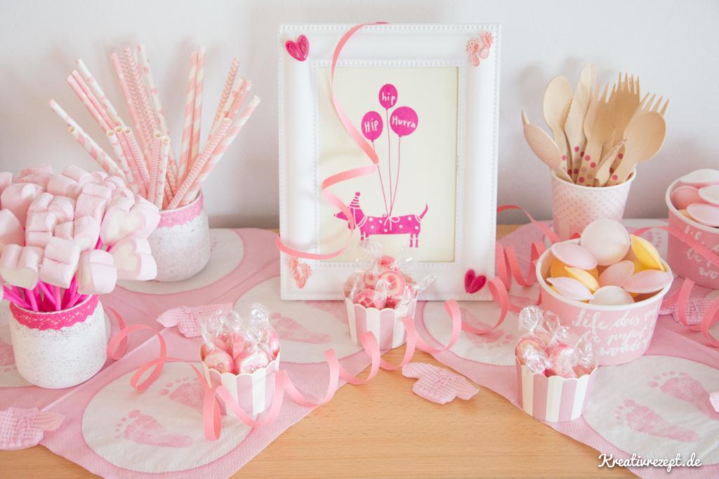Ideen Und Tipps Fur Eine Rosa Babyparty Kreativrezept De